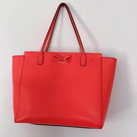 Kate Spade tote bag large - red